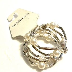 CROFT & BARROW Pearl Silver Bracelet NWT